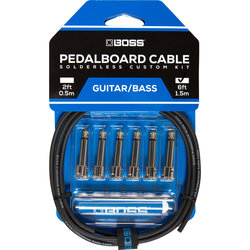 BOSS Solderless Pedalboard Cable Kit, 6 Connectors