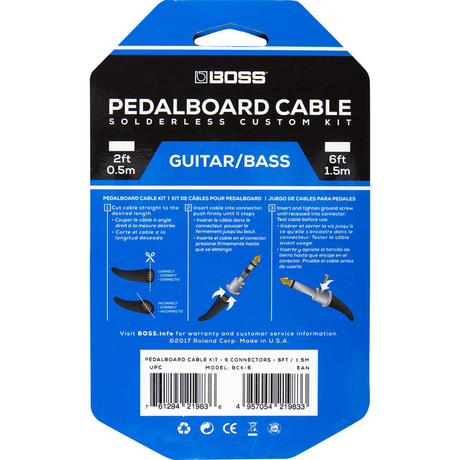 View larger image of BOSS Solderless Pedalboard Cable Kit, 6 Connectors