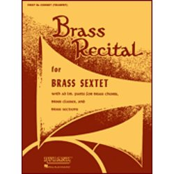 Brass Recital for Brass Sextet/Choir - 3rd & 4th Bb Cornet