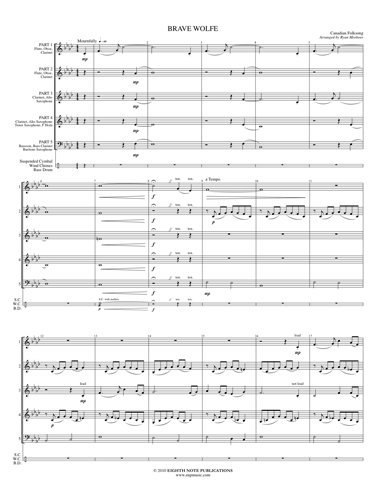 View larger image of Brave Wolfe - (Woodwind Flex Ensemble) - SCORE