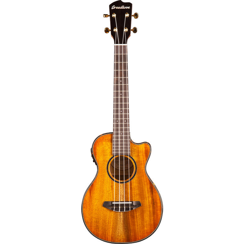 View larger image of Breedlove Lu'au Tenor CE Acoustic-Electric Ukulele - Natural Shadow