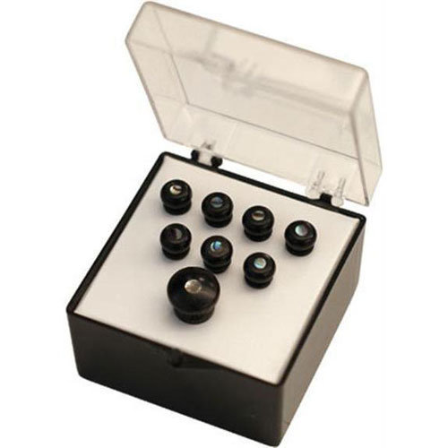 View larger image of Martin Bridge and End Pin Set - Ebony Wood with Pearl Inlay, Set of 8
