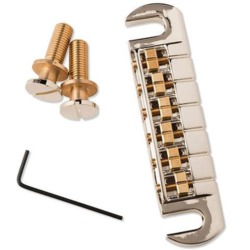 View larger image of PRS Adjustable Stoptail Bridge with Studs - Nickel