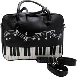 Brief Bag with Removable Strap - Keyboard Design