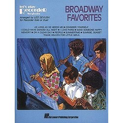 Broadway Favorites for Recorder