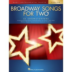 Broadway Songs for Two - Violins