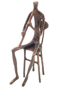 View larger image of Bronze Clarinet Player Sculpture - 8-1/2