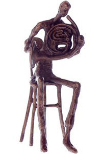 View larger image of Bronze French Horn Player Sculpture - 8-1/2