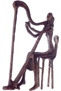 View larger image of Bronze Harp Player Sculpture - 10