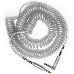 Bullet Cable Coil Instrument Cable - Straight to Right-Angle, 30', Clear