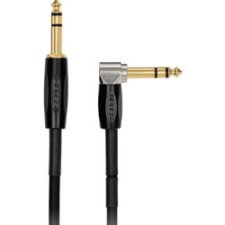 BOSS BCC-3-TRA Interconnect Cable - 3-1/2 mm, Straight / Right Angle