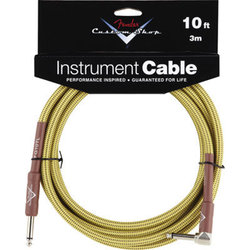 Fender Custom Shop Performance Series Instrument Cable - Right Angle, Tweed, 10'