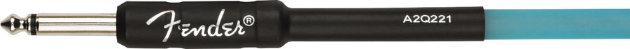 View larger image of Fender Professional Glow in the Dark Cable - Blue, 10'