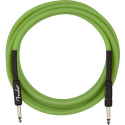 Fender Professional Glow in the Dark Cable - Green, 10'