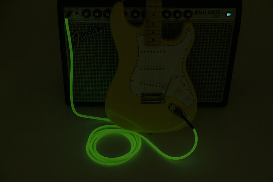 View larger image of Fender Professional Glow in the Dark Cable - Green, 10'