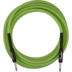 Fender Professional Glow in the Dark Cable - Green, 18.6'