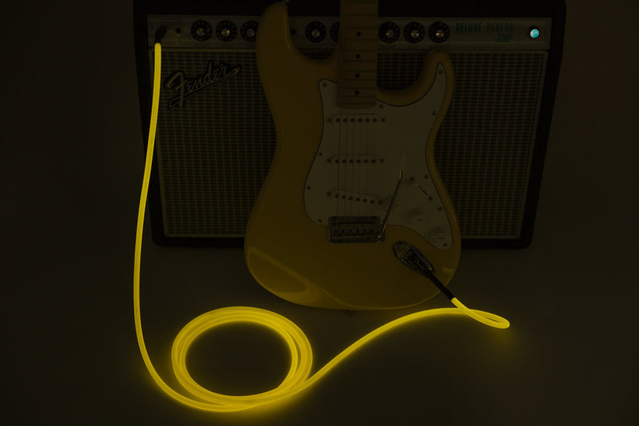 View larger image of Fender Professional Glow in the Dark Cable - Orange, 18.6'