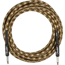 Fender Professional Series Instrument Cable - Straight / Straight, 18.6', Desert Camo