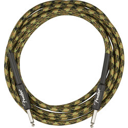 Fender Professional Series Instrument Cable - Straight / Straight, 18.6', Woodland Camo