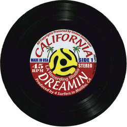 California Dreamin Vinyl Coaster