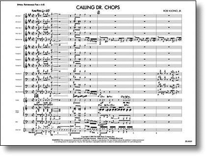 View larger image of Calling Dr. Chops - Score & Parts, Grade 4