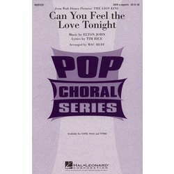Can You Feel the Love Tonight (Lion King), SATB Parts