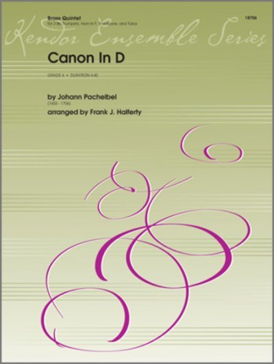 View larger image of Canon in D ,Pachelbel - (Brass Quintet)