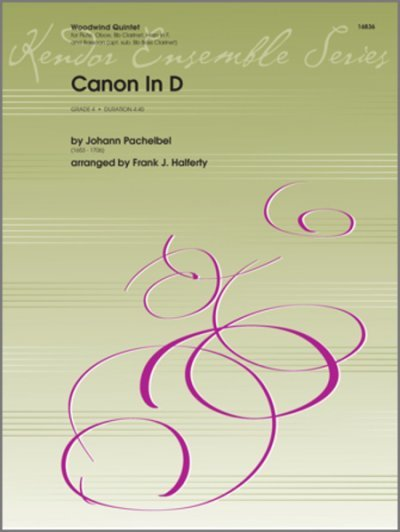 View larger image of Canon in D, Pachelbel - (Woodwind Quintet)