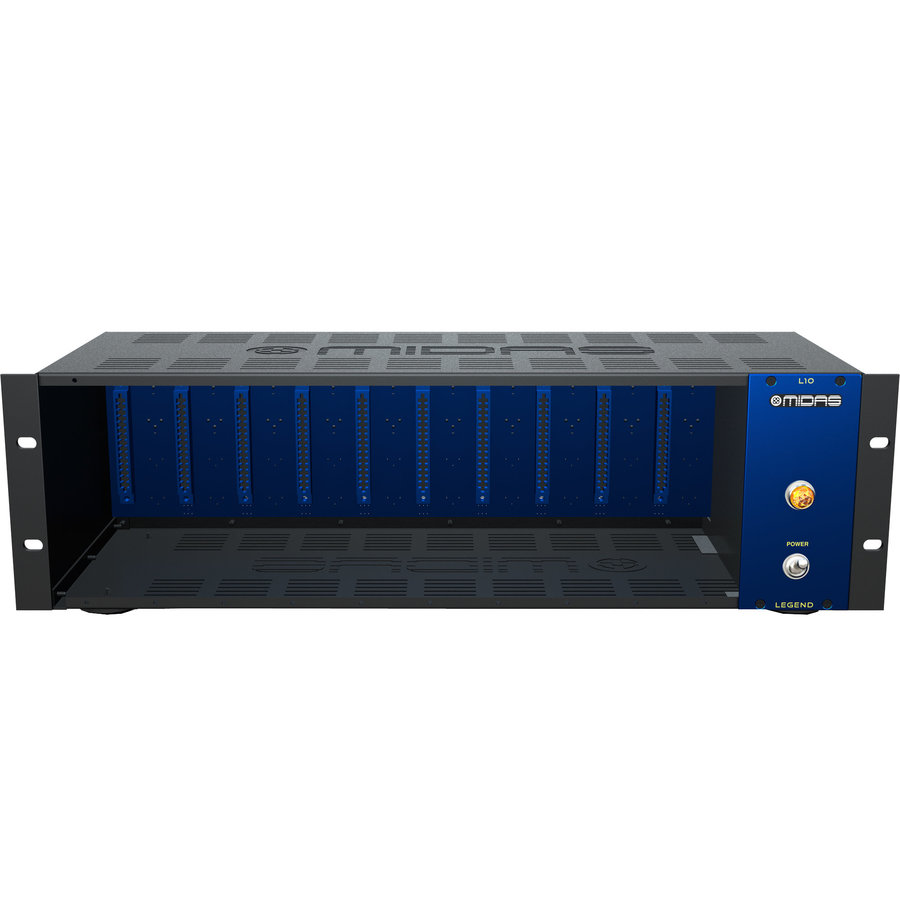 View larger image of  Midas L10 10-Slot 500 Series Chassis
