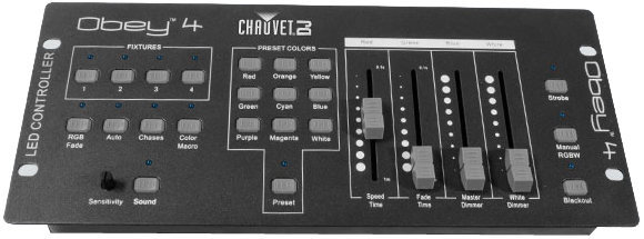 View larger image of Chauvet Obey 4 DMX Controller