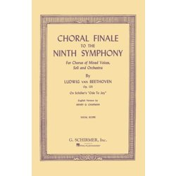 Choral Finale to the Ninth Symphony (SATB) - Vocal Score