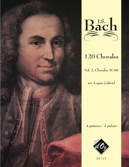 View larger image of Chorales, Volume 2 (Nos 31-60) (Bach) (Guitar Quartet)