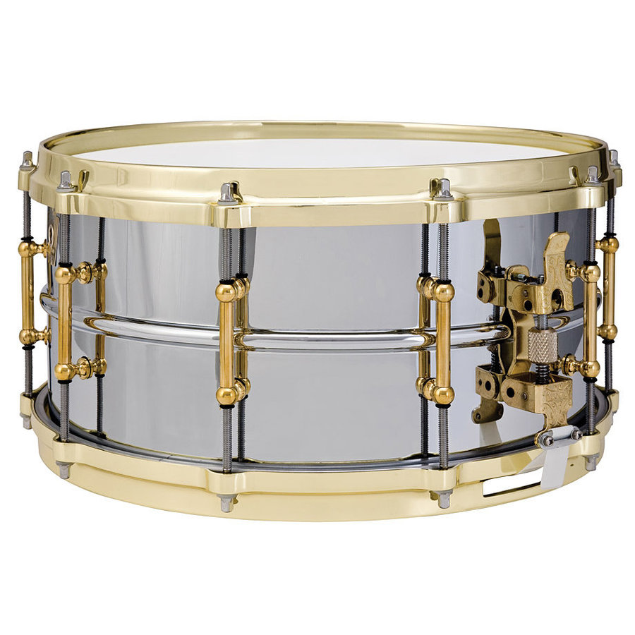 View larger image of Chrome over Brass Snare Drum - 6.4x14