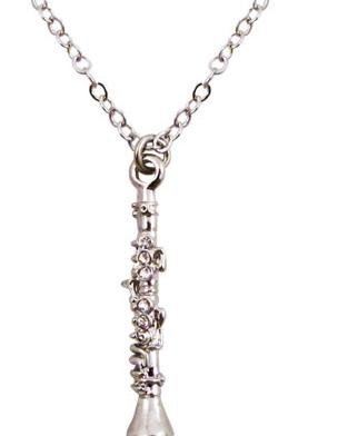 View larger image of Clarinet Necklace with Rhinestones