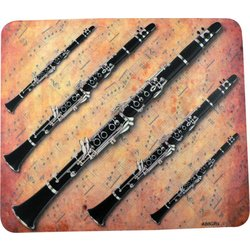 Clarinet Sheet Music Mouse Pad