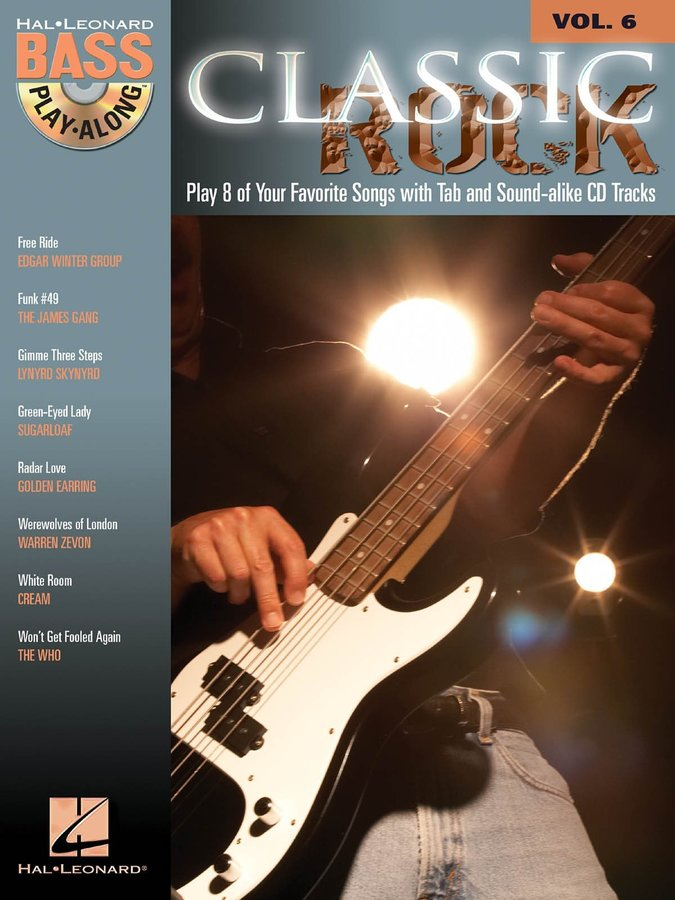 View larger image of Classic Rock - Bass Play-Along Volume 6 w/CD