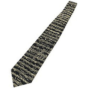 View larger image of Classic Sheet Music Silk Tie - Black