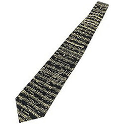 Classic Sheet Music Silk Tie - Black