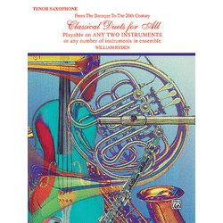 Classical Duets for All - Tenor Sax