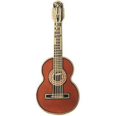 View larger image of Classical Guitar Pin - Spruce