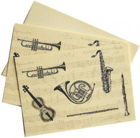 View larger image of Classical Instrument Note Cards - 10 Box