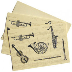 Classical Instrument Note Cards - 10 Box
