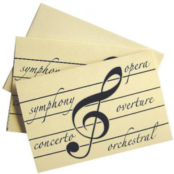 Classical Pieces Note Cards - 10 Box