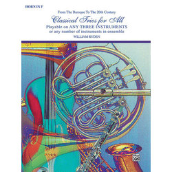 Classical Trios for All - F Horn