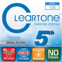Cleartone Fifth String Nickel Plated Bass Strings - 130