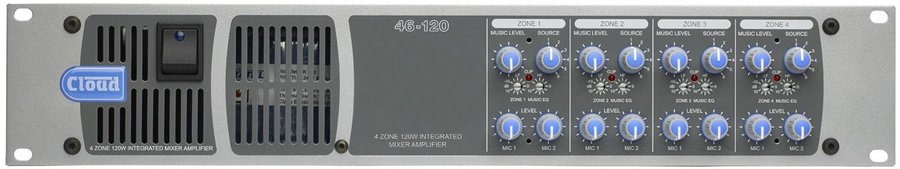 View larger image of Cloud 46-120T 4 Zone Integrated Mixer Amplifier
