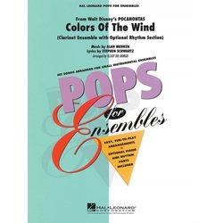 Colours Of the Wind - Clarinet Ensemble w/Opt Rhythm Section
