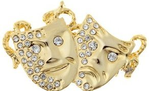 View larger image of Comedy/Tragedy Rhinestone Brooch