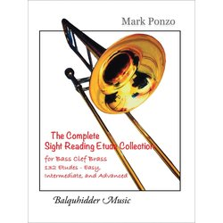 Complete Sight Reading Etude Collection (Ponzo) - For Bass Clef Brass Instruments