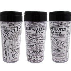 Composer Sheet Music Travel Tumbler - 16oz
